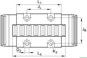 直线滚子轴承 RUS19069,
