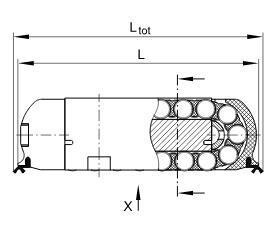 直线滚子轴承RUS19069